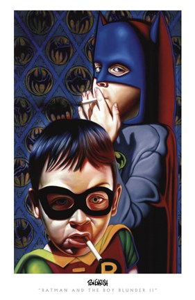 Framed Batman and the Boy Blunder II Print
