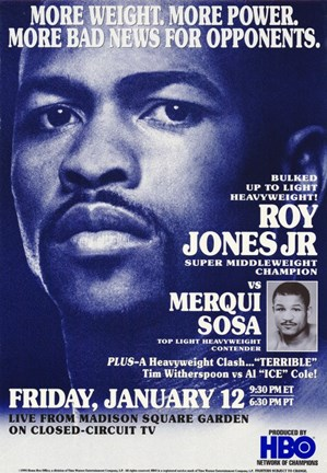 Framed Roy Jones Jr. Vs Merqui Sosa Print