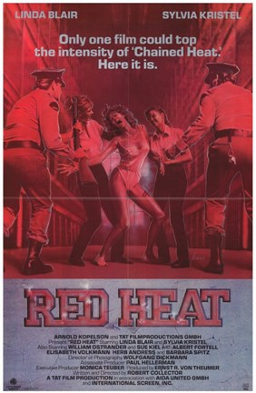 Framed Red Heat Print