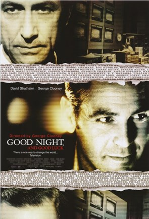 Framed Good Night and Good Luck George Clooney Print