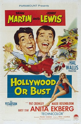 Framed Hollywood or Bust Print