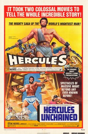 Framed Hercules / Hercules Unchained Print