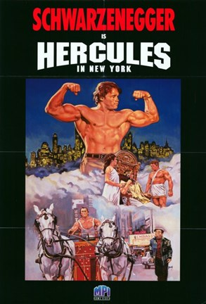 Framed Hercules in New York Print
