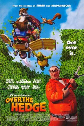 Framed Over the Hedge - Get over it Print