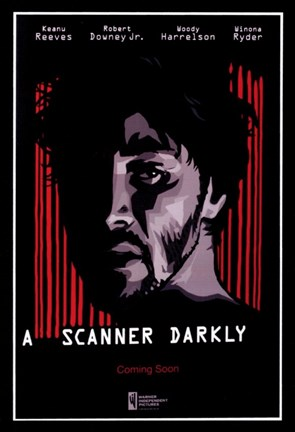 Framed Scanner Darkly Keanu Reeves Print