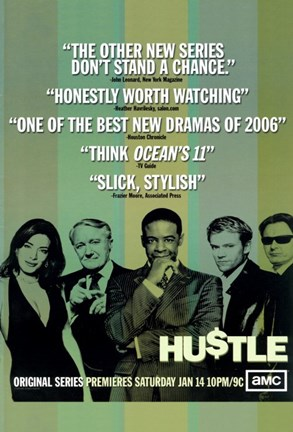 Framed Hustle (TV) Print
