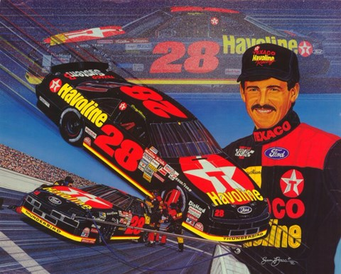 Framed Davey Allison Print