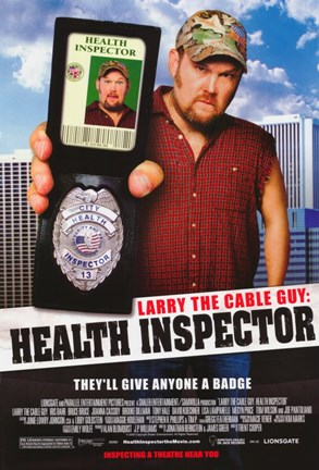 Framed Larry the Cable Guy: Health Inspector Print