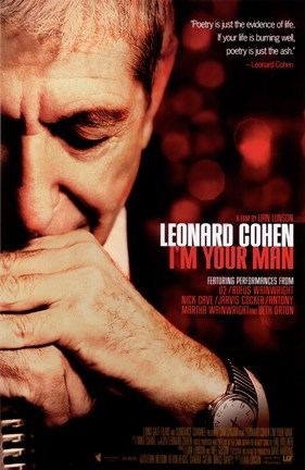 Framed Leonard Cohen I'm Your Man Print