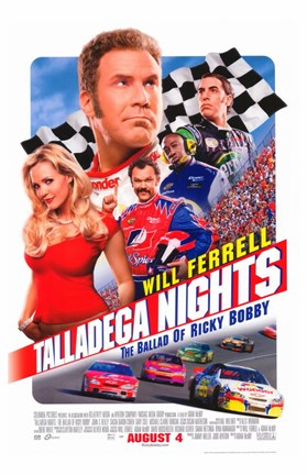 Framed Talladega Nights: The Ballad of Ricky Bobby Print
