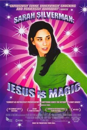 Framed Sarah Silverman: Jesus is Magic Print
