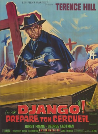 Framed Django Sees Red French Print
