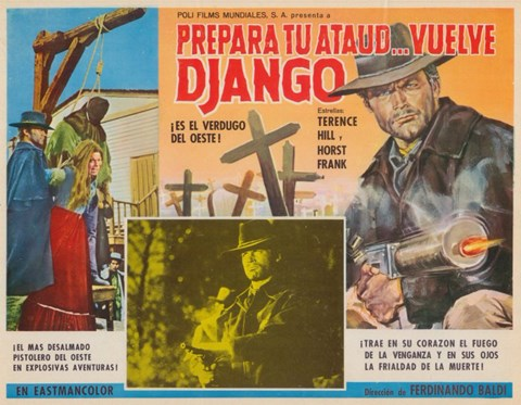 Framed Django Sees Red Spanish Print