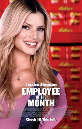 Framed Employee of the Month - Jessica Simpson Print
