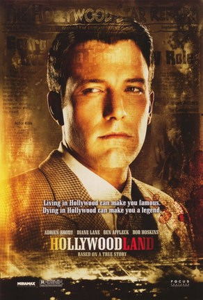 Framed Hollywoodland Ben Affleck Print