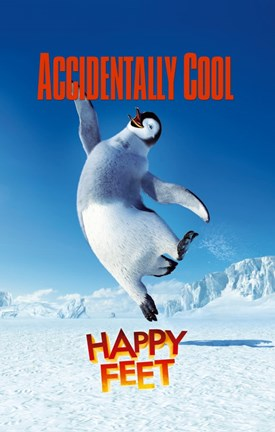 Framed Happy Feet Accidentally Cool Print