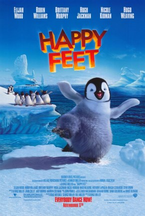 Framed Happy Feet Movie Print