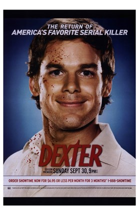 Framed Dexter Dark Print