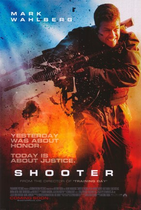 Framed Shooter - Mark Wahlberg Print