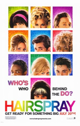 Framed Hairspray - who's who behind the do? Print