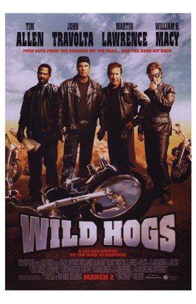 Framed Wild Hogs Print