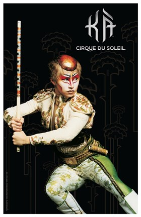Framed Cirque du Soleil - Ka, c.2004 (twin brother) Print
