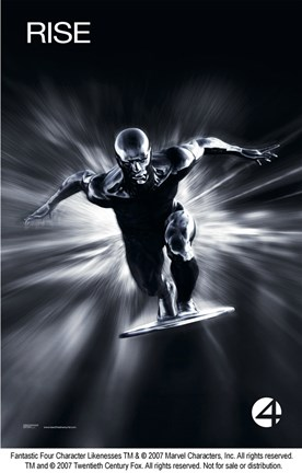 Framed Fantastic Four: Rise of the Silver Surfer - Rise Black and White Print