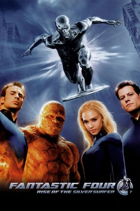 Framed Fantastic Four: Rise of the Silver Surfer Movie Poster Print