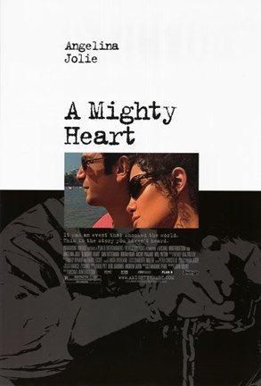Framed Mighty Heart Angelina Jolie Print