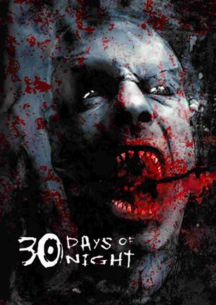 Framed 30 Days of Night Bloody Face Print