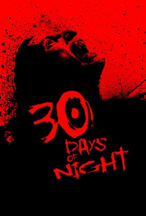 Framed 30 Days of Night - Red and Black Print