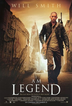 Framed I Am Legend - walking alone Print