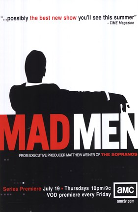 Framed Mad Men (TV) Print