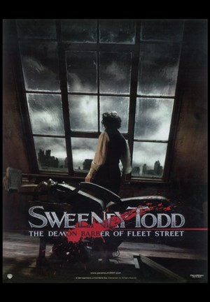 Framed Sweeney Todd Johnny Depp overlooking London Print