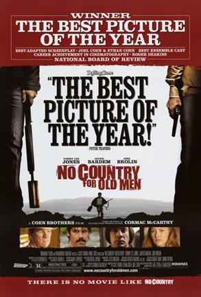 Framed No Country For Old Men Best Picture of the Year Print