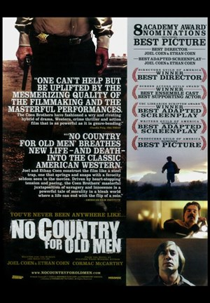 Framed No Country For Old Men Quotes Print