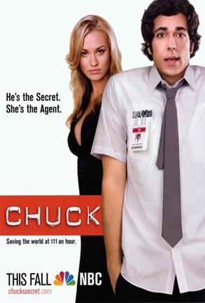 Framed Chuck Secret Agent Horizontal Print