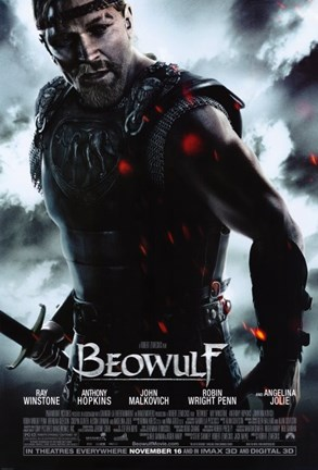 Framed Beowulf Ray Winstone Print