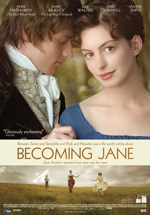 Framed Becoming Jane Movie Print