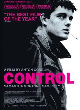 Framed Control Sam Riley Samantha Morton Print