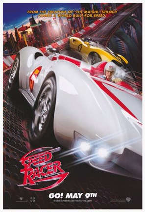 Framed Speed Racer Print