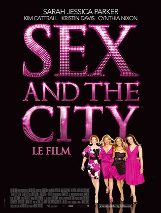 Framed Sex and The City: The Movie - Le Film Print