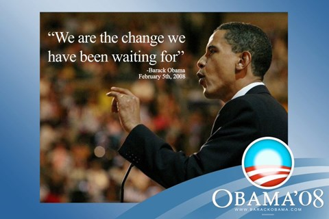 Framed Barack Obama - (We Are The Change) Campaign Poster Print