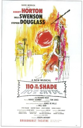 Framed 110 In the Shade (Broadway) Print