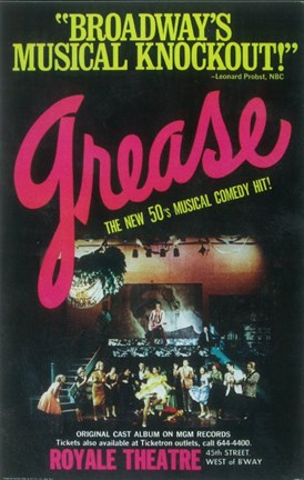 Framed Grease (Broadway) Print
