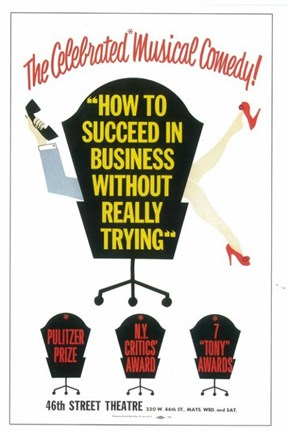 Framed How to Succeed In Business Without Really Trying (Broadway) Print