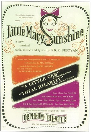 Framed Little Mary Sunshine (Broadway) Print