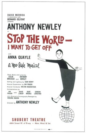 Framed Stop the World I Want to Get Off (Broadway) Print
