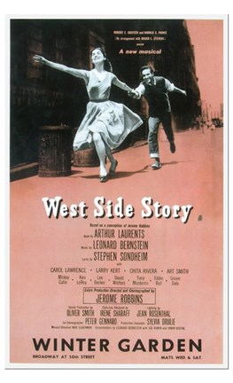 Framed West Side Story (Broadway) Print