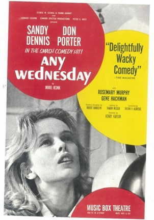 Framed Any Wednesday (Broadway) Print